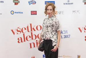 Táňa Pauhofová na premiére filmu Všetko alebo nič