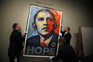 Barack Obama je vďaka slávnemu plagátu aj v galérii.