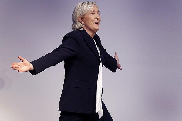 Šéfka francúzskeho Národného frontu Marine Le Penová.