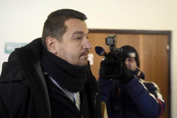 Advokát Viktor Križiak na Okresnom súde v Trenčíne 23. januára 2017.