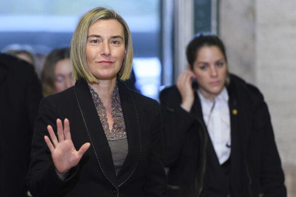 Vysoká predstaviteľka EÚ pre zahraničnú a bezpečnostnú politiku Federica Mogheriniová.