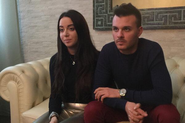 Zachránený pár z hotela Rigopiano - Giorgia Galassiová a Vincenzo Forti.