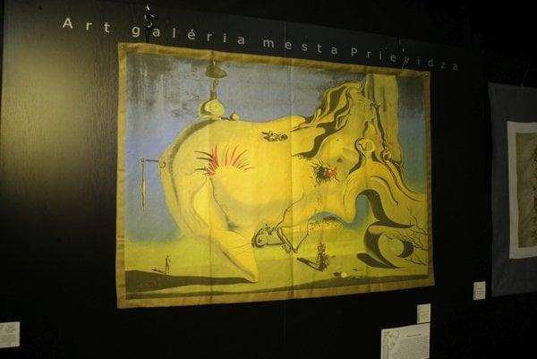 Gobelín patrí k najvzácnejším exponátom zo zbierky Dalího diel vystavených v Prievidzi.