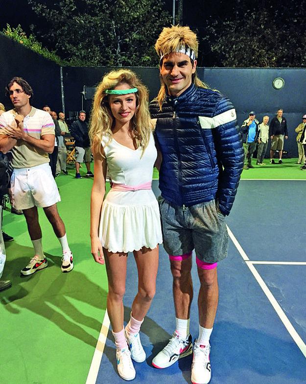 Pri natáčaní reklamy s Rogerom Federerom