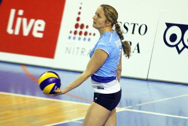 Skúsená smečiarka Jana Tužinská prišla zo Zvolena do tímu UKF Nitra.