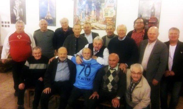 Ivan Lauko oslavoval 70-tku v kruhu futbalových priateľov.