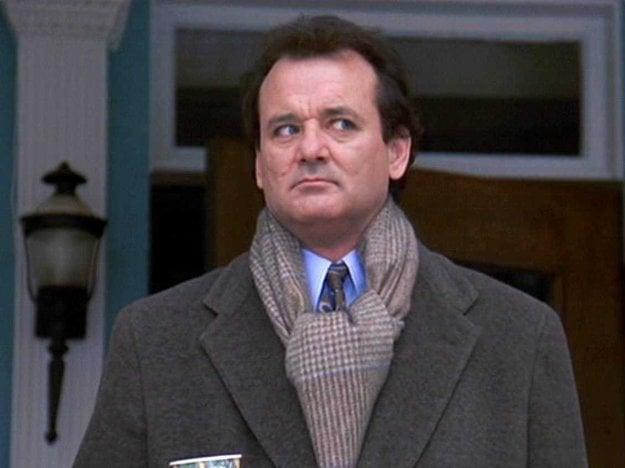 Bill Murray vo filme Groundhog Day.