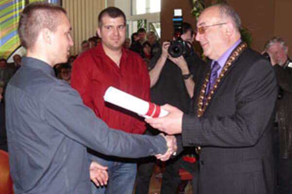Jakub Krako i Juraj Medera sa stali čestnými občanmi Lazian.