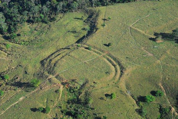 Geoglyf v amazonskom pralese.