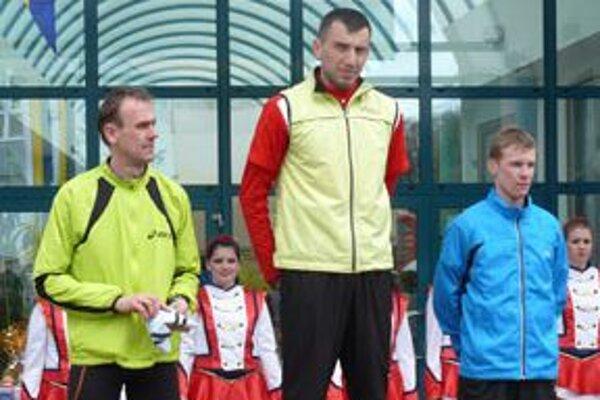 Majrýchlejší muži, zľava: Dziuba, Burghardt, Urban.