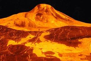 Vizualizácia najvyššej sopky Venuše Maat Mons.