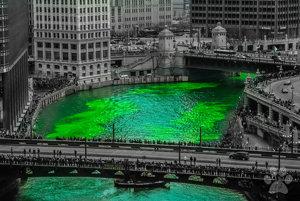 Ak do Chicaga zavítate na deň svätého Patrika, nečudujte sa farbe vody. Tunajšia rieka je vtedy zelená.