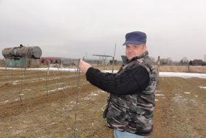 Ovocinár Mário Sulák. Na meteostanici namerali vjanuári rekordných -27,5°C.