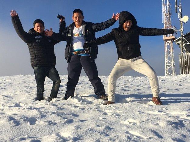 Indiáni na snehu.