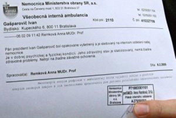 Potvrdenie predložil aj Ivan Gašparovič.