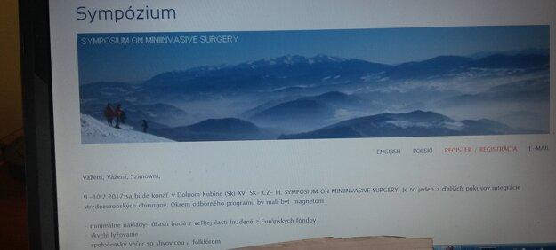 Snímka mailu s pôvodnou pozvánkou, ktorá lákala lekárov aj na lyžovačku a slivovicu.