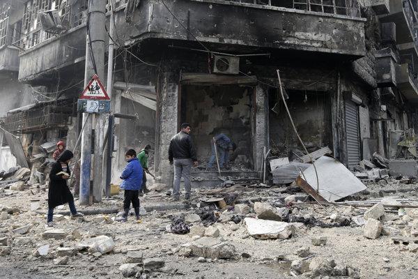 Nálety v Kobani v roku 2015.