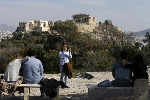 Svetoznáma aténska Akropola.