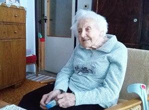 Storočná jubilantka Etela Veronika Kocianová.