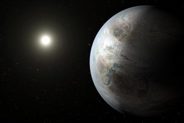 Umelecké zobrazenie exoplanéty Kepler-452b.