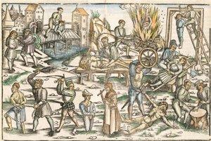 Zobrazenie stredovekých trestov zprávnej zbierky (Laienspiegel) zroku 1509.