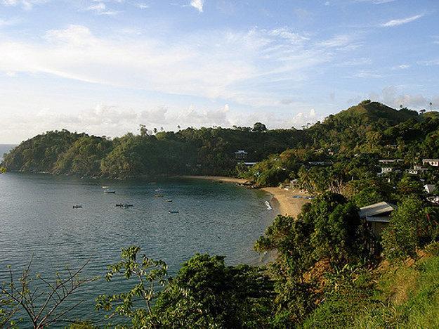 Castara Bay, ostrov Tobago.