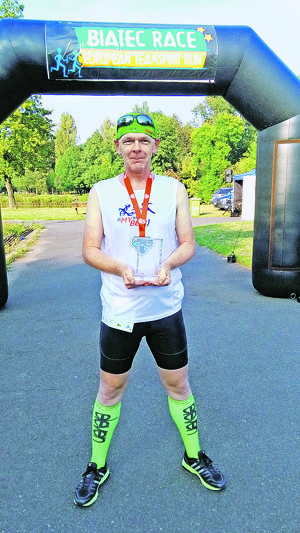 V cieli štafetového behu Biatec Race z Lednice do Prahy.