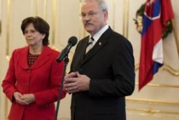 Prezident Ivan Gašparovič s manželkou Silviou.