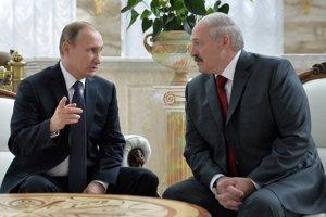 Vladimir Putin a Alexander Lukašenko.