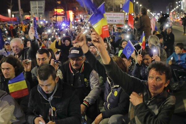 Rumuni boli opäť v uliciach.
