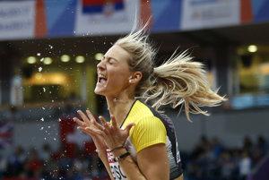 Nemka Kristin Gierisch získala zlatú medailu v trojskoku.
