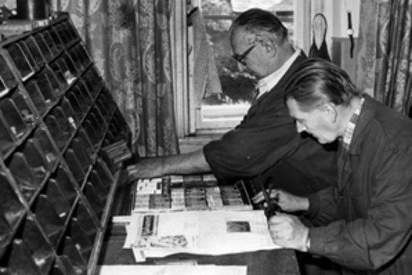 Okresné noviny sa kedysi sádzali ručne.
