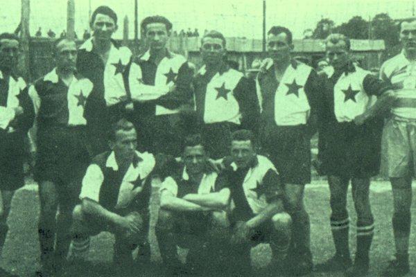 Tím ČsŠK Košice v slavistických dresoch v 20. rokoch 20. stor.