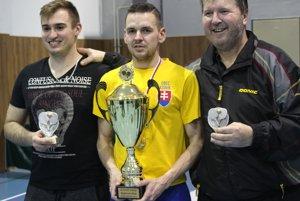 Traja najúspešnejší stolní tenisti v dvojhre