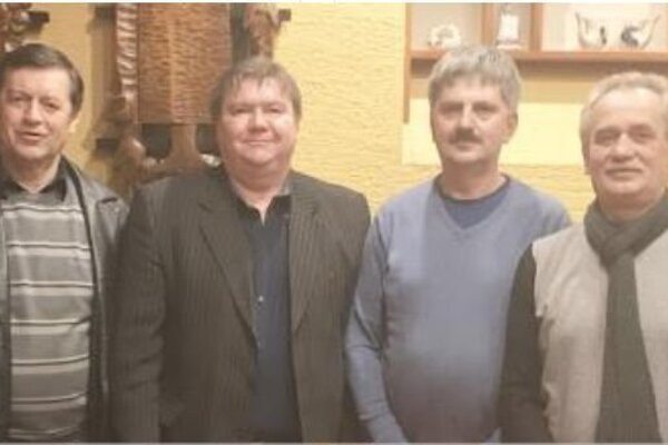Zľava: Ľ. Stanko, M. Mikušiak, M. Tkáč aF. Lintner.