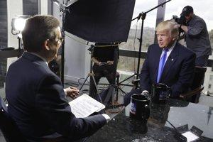 Donald Trump v rozhovore s Chrisom Wallacom zo stanice Fox News.