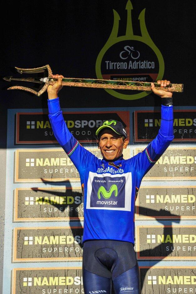 Nairo Quintana celkovo ovládol preteky Tirreno-Adriatico a posunul sa v rebríčku na tretie miesto.
