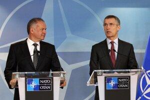 Stretnutie prezidenta Andreja Kisku s generálnym tajomníkom NATO Jensom Stoltenbergom.
