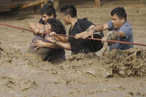 Záplavy v Peru.