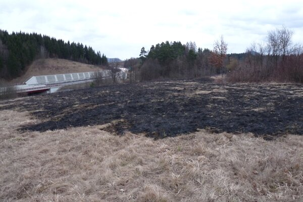 Výsledok požiaru vo Sverepci.