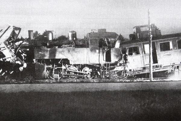 Zrážka vlakov pri Veľkom Bysterci v roku 1942.
