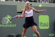 Dominika Cibulková v zápase proti Kirsten Flipkensovej.