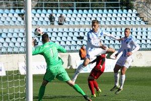 Obranca Nitry Richard Križan si po Ďurekovom centri otvoril gólový účet v druhej lige.