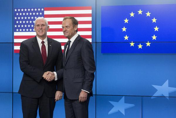 Americký viceprezident s predsedom Európskej rady.