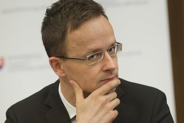 Minister zahraničných vecí Maďarskej republiky Péter Szijjártó.