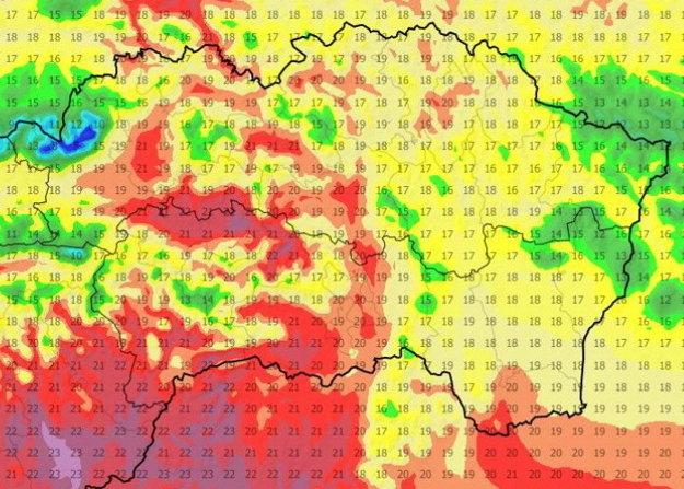 Utorkové popoludnie na východe.Teplo bolo o 15.00 hod. prakticky všade, no na Gemeri a Spiši bolo vzhľadom na záver marca dosť horúco.