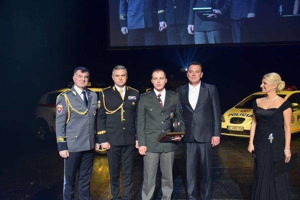 Ocenený policajt Martin Várkoly.