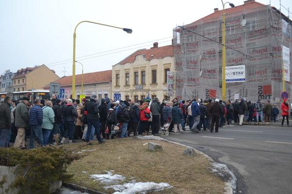 Momentka z predošlého protestu v Prešove.
