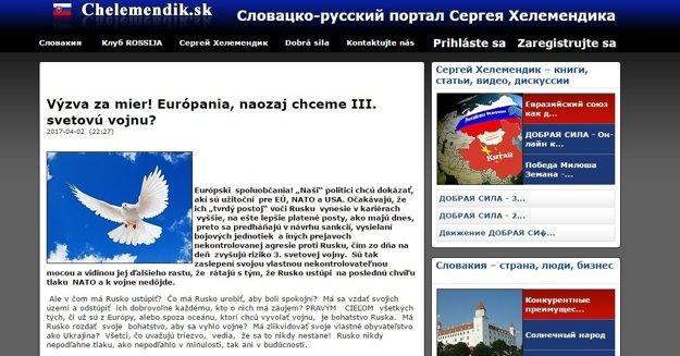 Výzva na stránke Sergeja Chelemendika Putinom podpísaná nie je.