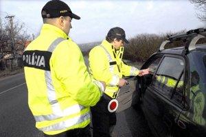 Pri policajnej kontrole vodičovi namerali alkohol.